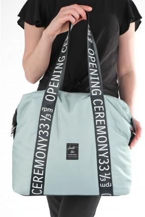 حقيبة يد نسائية مزينة بكتابة