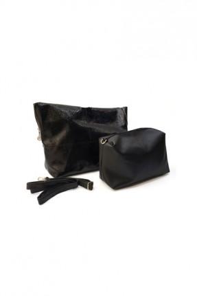 حقيبة يد نسائية سادة اللون - اسود