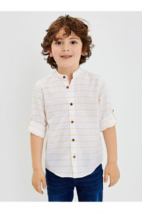 قميص اطفال ولادي مخطط - اصفر