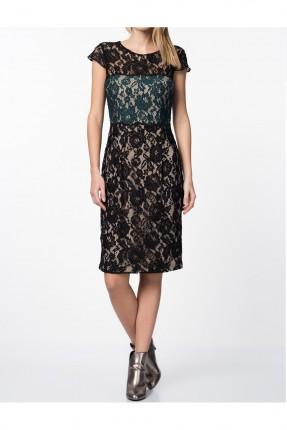 فستان نسائي رسمي دانتيل - اسود
