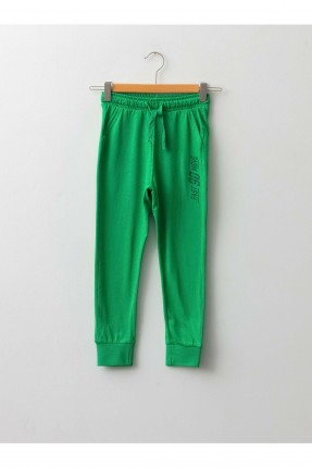 بنطال رياضة اطفال ولادي مزموم الخصر - اخضر