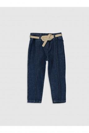 بنطال جينز بيبي بناتي مزين بحزام