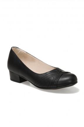 حذاء نسائي بكعب مربع  اسود
