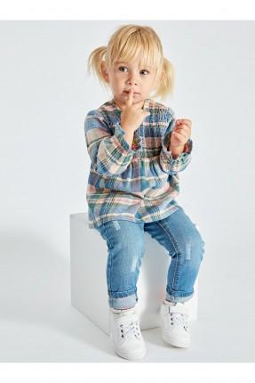 بنطال جينز بيبي بناتي بكحتة