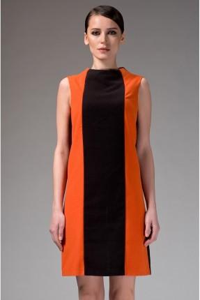 فستان نسائي بلونين - اسود