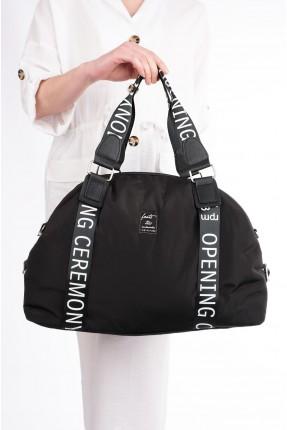 حقيبة يد نسائية مزينة بسحاب - اسود