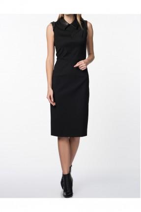 فستان نسائي سادة اللون - اسود