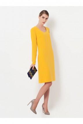 فستان نسائي سادة اللون - اصفر