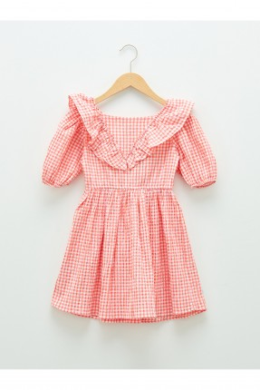 فستان اطفال بناتي بنقشة كارو