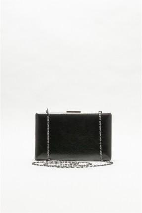 حقيبة يد نسائية بسلسلة معدنية - اسود
