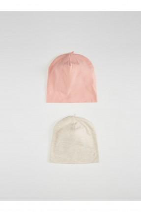 قبعة بيبي بناتي سادة عدد 2