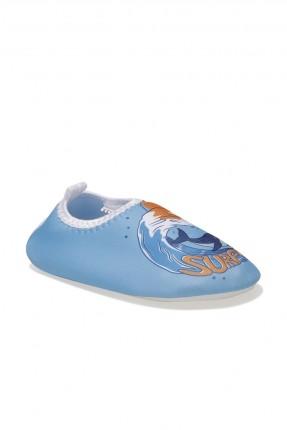 خفافة اطفال ولادي بطبعة سمكة - ازرق