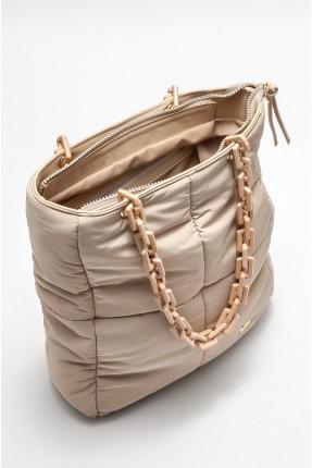 حقيبة يد نسائية نفخ - بيج