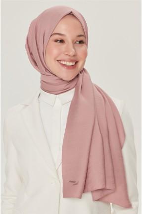 حجاب تركي مزين باسم الماركة - زهري