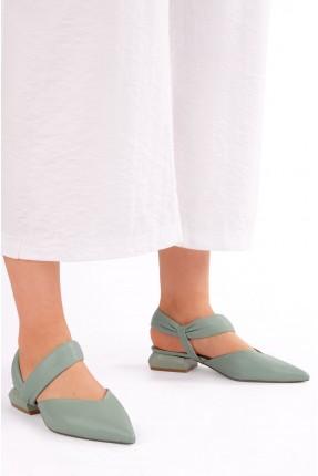 حذاء نسائي سادة اللون - اخضر