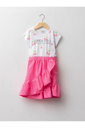 فستان اطفال بناتي بلونين