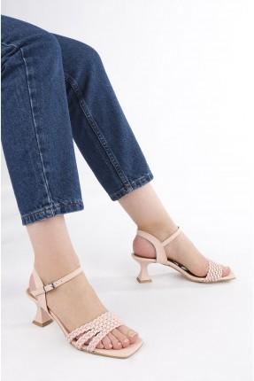 حذاء نسائي ببزيم - زهري