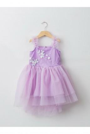 فستان اطفال بناتي بتول - بنفسجي