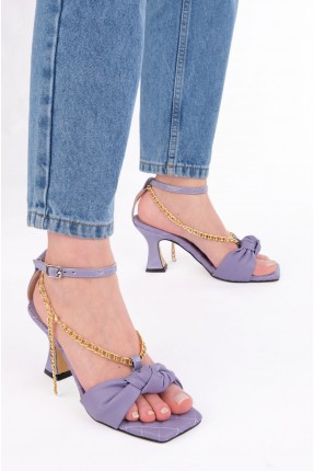 حذاء نسائي ببزيم - بنفسجي