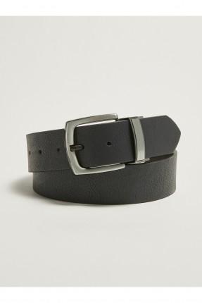 حزام رجالي كلاسيكي جلد - اسود