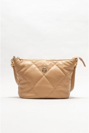 حقيبة يد نسائية بتفاصيل حبكة تطريز