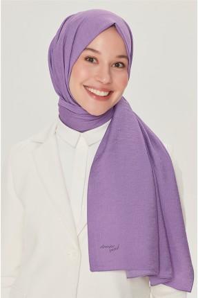 حجاب تركي سادة اللون - موف