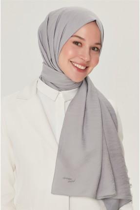 حجاب تركي سادة اللون - فضي