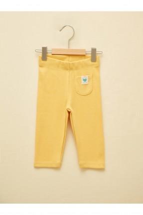بنطال بيبي بناتي مزين بجيب - اصفر