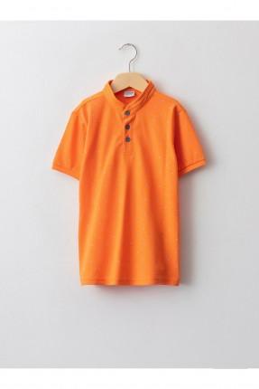 تيشرت اطفال ولادي بنقشة - برتقالي