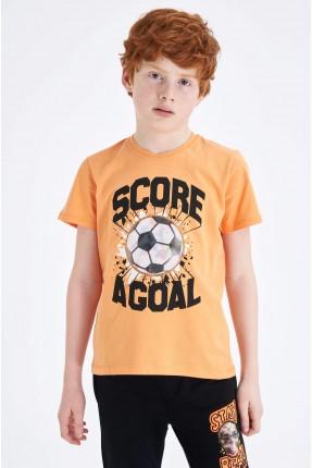 تيشرت اطفال ولادي بطبعة كرة قدم