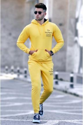 بيجاما رياضة رجالية بكابيشون - اصفر
