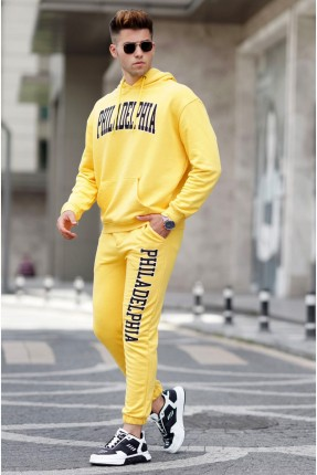 بيجاما رياضة رجالية بجيوب - اصفر
