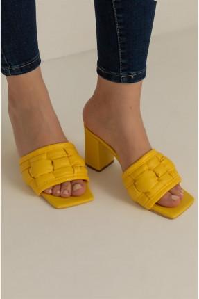حذاء نسائي سادة - اصفر