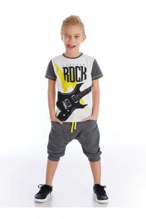 طقم اطفال ولادي بكتابة Rock