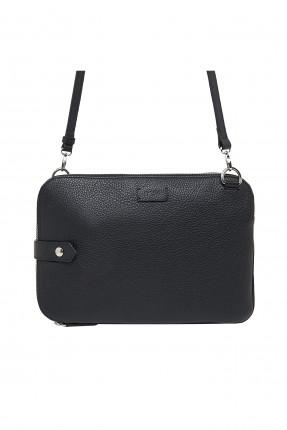 حقيبة يد رجالية مزين بزر - اسود