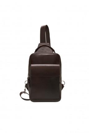 حقيبة يد رجالية مزينة بجيب