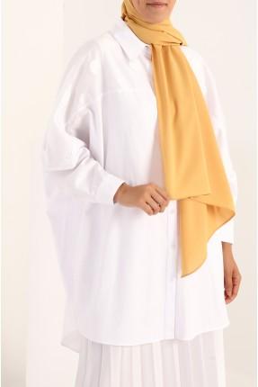 حجاب تركي سادة اللون - اصفر