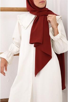 حجاب تركي مزين بحبكة