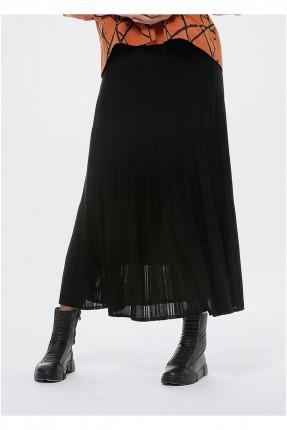 تنورة طويلة تريكو - اسود