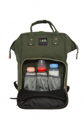 حقيبة تجهيزات بيبي  بسحابات - زيتي