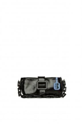 حقيبة يد نسائية مزينة بسلسلة - اسود