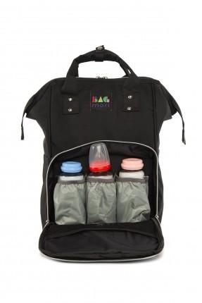حقيبة تجهيزات بيبي  بجيب بارز - اسود