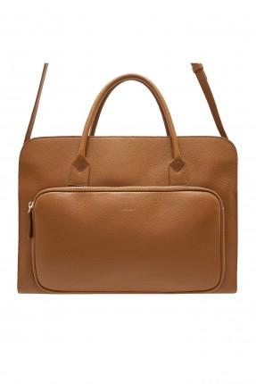 حقيبة يد رجالية مزينة بجيب سحاب