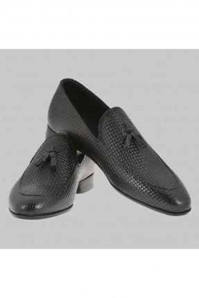 حذاء رجالي بشراشيب - اسود