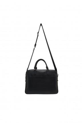 حقيبة يد رجالية مزينة بشعار الماركة