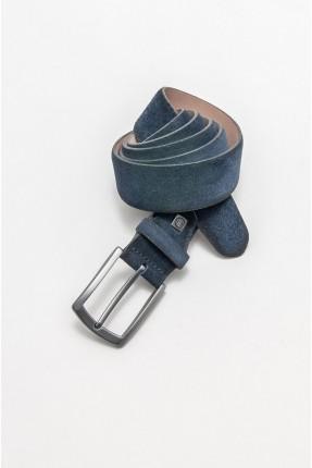 حزام رجالي جلد - كحلي