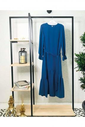 فستان نسائي مزين بربطة عند الخصر