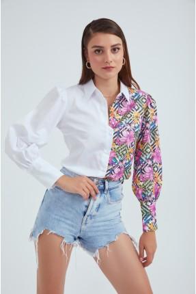 قميص نسائي بالوان متعددة