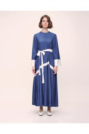 فستان نسائي مزين بفيونكة عند الخصر