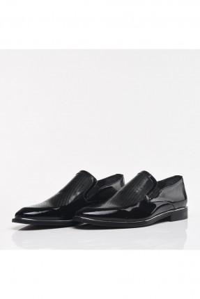 حذاء رجالي جلد بلمعة
